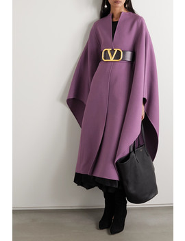 Belted Wool Cape by Valentino