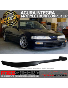 Fits 92 93 Acura Integra T R Style Pu Urethane Front Bumper Lip Spoiler by Xcessmotors