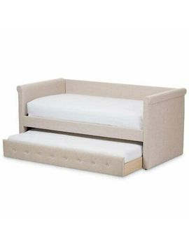 Baxton Studio Alena Fabric Daybed With Trundle In Light Beige by Baxton Studio