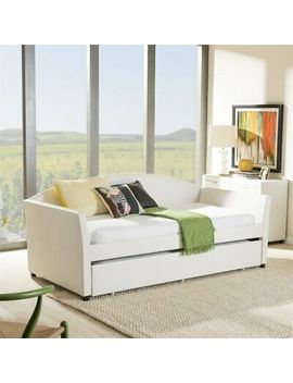 London Faux Leather Twin Daybed In White by Baxton Studio