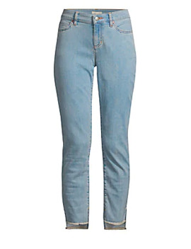 Slim Raw Step Hem Ankle Jeans by Eileen Fisher