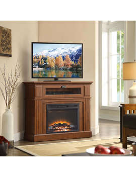 "Whalen Sumner Corner Media Electric Fireplace For T Vs Up To 45"", Brown by Whalen Furniture"