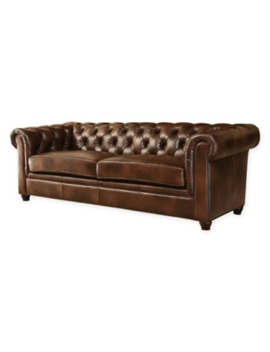 Abbyson Living® Foyer Sofa In Chestnut by Bed Bath And Beyond