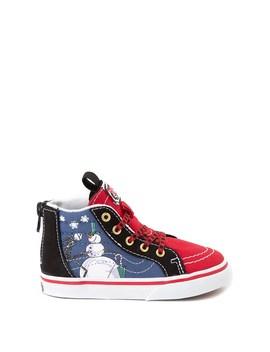 Vans X The Nightmare Before Christmas Sk8 Hi Zip Christmas Town Skate Shoe   Baby / Toddler   Red / Multi by Vans