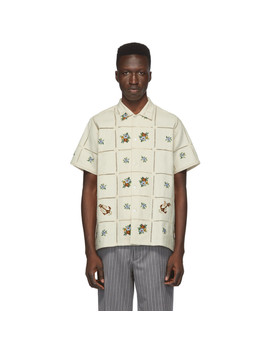 Beige Floral Patch Shirt by Bode