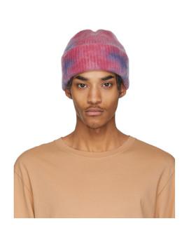 Pink & Blue Hot Dye Watchman Beanie by The Elder Statesman