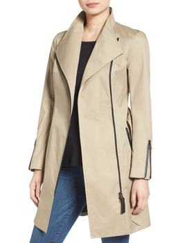 Estela Belted Long Trench Coat by Mackage
