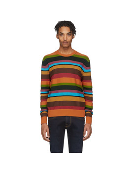 Multicolor Stripe Crewneck Sweater by Etro