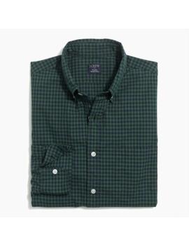 Small Gingham Regular Flex Casual Shirt by J.Crew