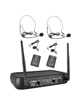Pro 2 Channel Vhf Wireless Microphone System by Pyle