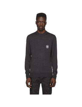 Grey Cashmere Travel Sweater by Neil Barrett