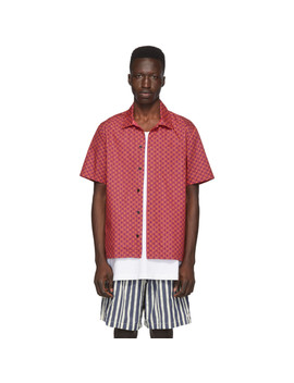 Red & Purple Squiggle 'the Cabana' Shirt by Solid & Striped
