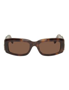 Tortoiseshell Paris Sunglasses by Balenciaga