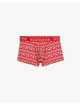 Holiday Print Fair Isle Sport Trunks by Express