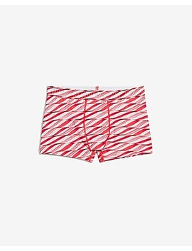 Photoreal Candy Cane Print Performance Sport Trunks by Express