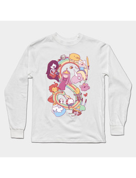 Heroes Of Ooo Long Sleeve T Shirt by Tee Public