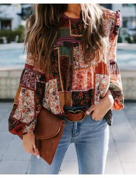 Two Roads Diverged Patchwork Top by Vici