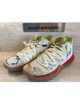 "Men's Nike Kyrie 5 Bandulu ""Embroidered Splatters"" Ck5836 100 Size 7 by Nike"
