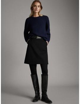 Mini Falda Negra AlgodÓn by Massimo Dutti