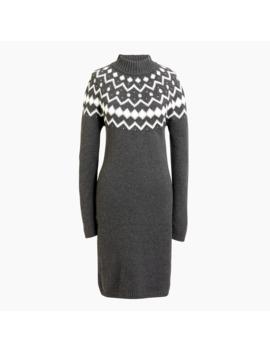 Long Sleeve Fair Isle Mockneck Sweater Dress by J.Crew