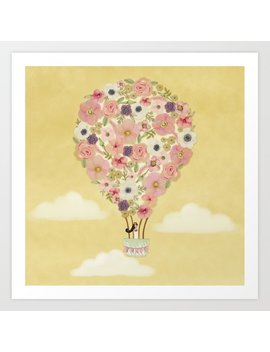 The Girl In The Hot Air Balloon Art Print by Society6