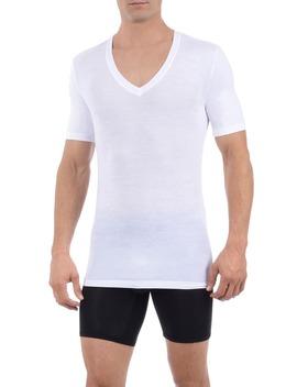 Second Skin Micromodal Deep V Neck Undershirt by Tommy John