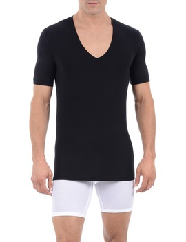 Cool Cotton Deep V Neck Undershirt by Tommy John