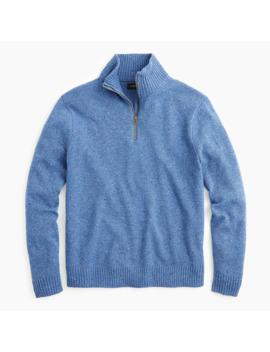 Rugged Merino Wool Donegal Half Zip Sweater by J.Crew