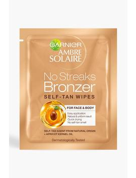 Garnier Ambre Solaire No Streaks Tan Face Wipes 5.6ml by Boohoo