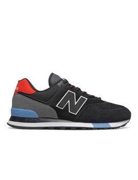"New Balance 574 ""Black/Red"" Men's Shoe New Balance 574 ""Black/Red"" Men's Shoe by Hibbett"