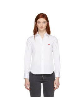 Chemise Blanche Small Heart by Comme Des GarÇons Play