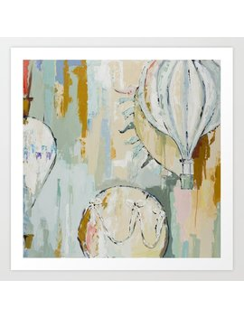 Rise Hot Air Balloon Original Painting On Canvas Art Print by Society6