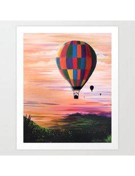 Hot Air Journey Art Print by Society6