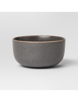 23oz Tilley Stoneware Cereal Bowl Black   Project 62™ by Project 62