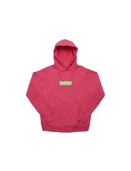 Supreme Box Logo Hooded Sweatshirt (Fw17) Magenta by Stock X