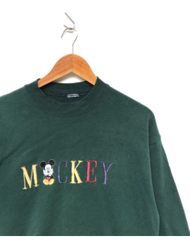 🔥Last Drop🔥Vintage Mickey Sweatshirts Spellout Coulour by Vintage  ×  Mickey Mouse  ×