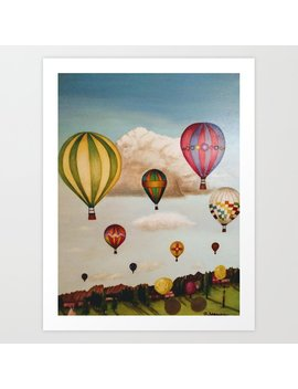 Hot Air Balloons Over New Mexico Art Print by Society6