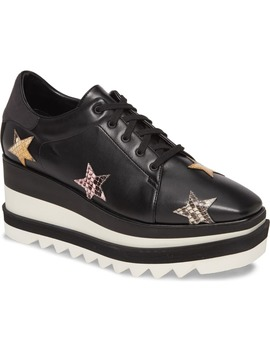 Star Platform Wedge Sneaker by Stella Mccartney