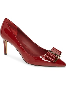 Zeri Bow Pointed Toe Pump by Salvatore Ferragamo