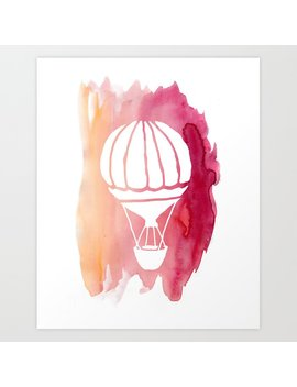 Pink Hot Air Balloon Art Print by Society6