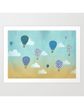The Traveling Air Balloons Art Print by Society6