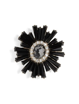 Black Petal Brooch by Banana Repbulic