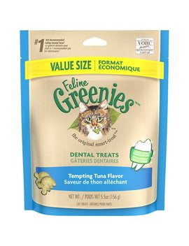 Greenies Feline Tempting Tuna Flavor Dental Cat Treats by Greenies