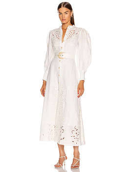 Freja Embroidered Dress by Zimmermann