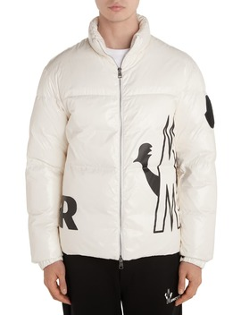 Friesian Logo Down Puffer Jacket by Moncler