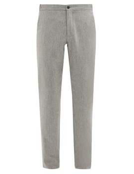 Internal Drawstring Wool Slim Leg Trousers by Incotex