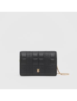 Quilted Lambskin Card Case With Detachable Strap by Burberry