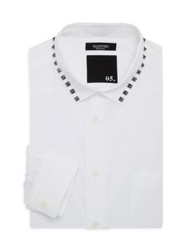 Studded Cotton Dress Shirt by Valentino