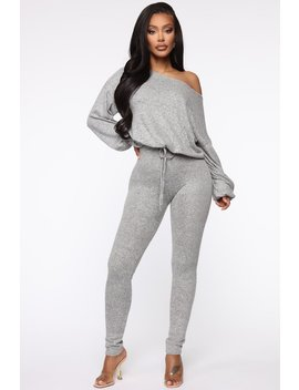 You Gotta Chill Lounge Set   Heather Grey by Fashion Nova