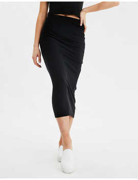 Ae High Waisted Knitted Midi Skirt by American Eagle Outfitters